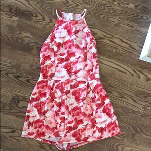 one clothing Dresses - Pink and white floral romper